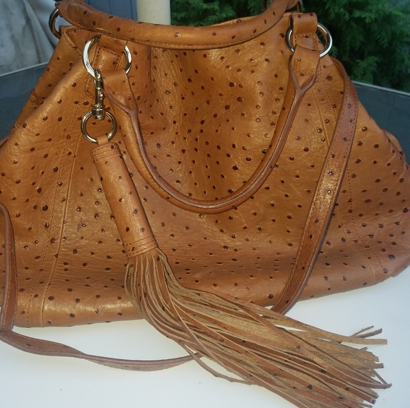 d6d5ad8e36 G.I.L.I. Handbags - G.I.L.I. Ostrich Leather Bag